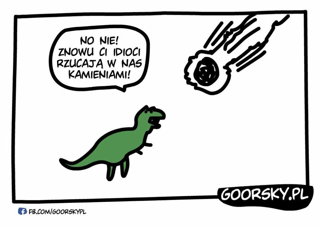 Jak ludzie rzucali w dinozaury kamieniami