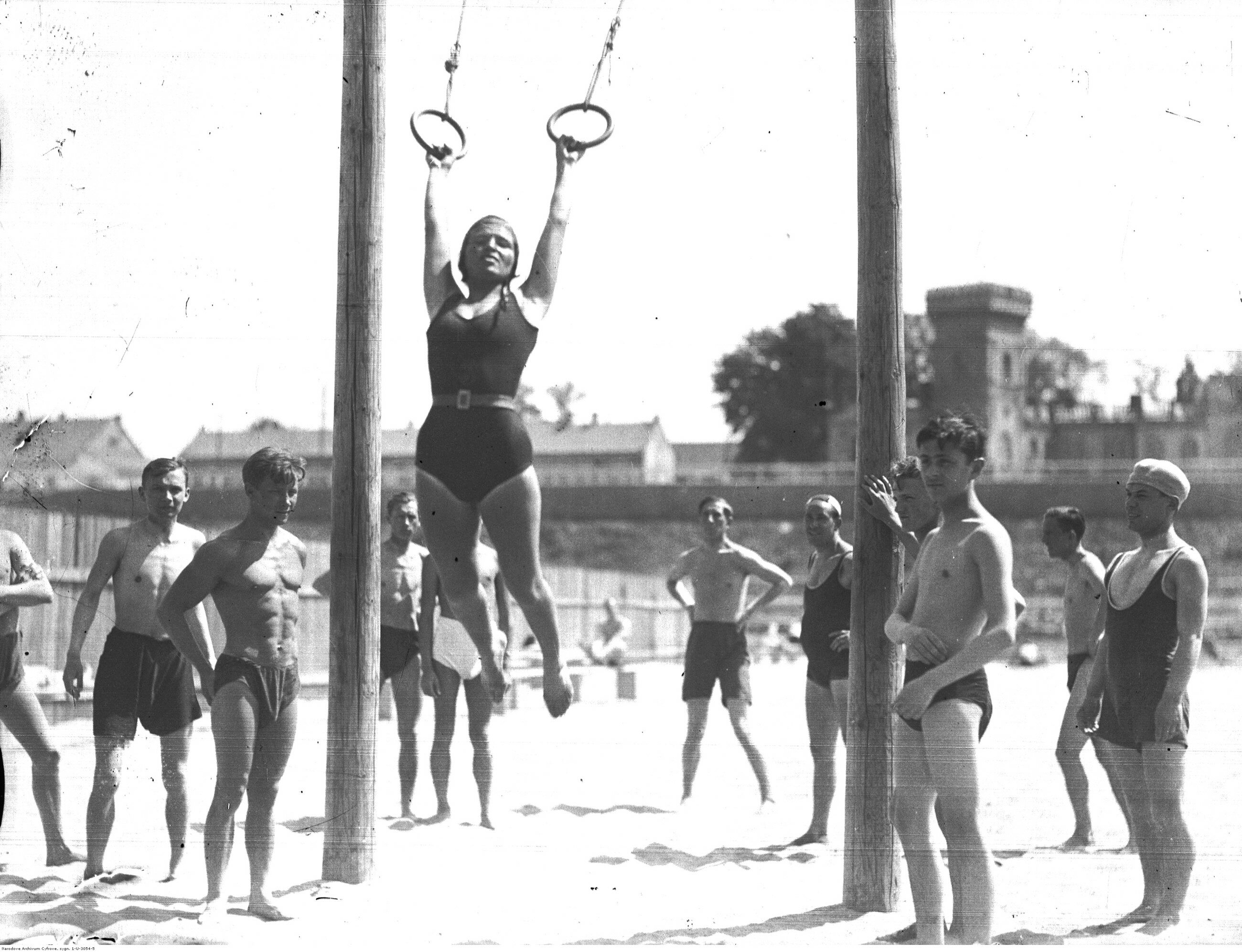 Kraków, 1931 r. Plaża Towarzystwa Uniwersytetu Robotniczego w Krakowie