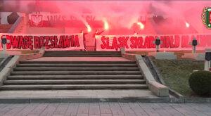 """""""Fire show"""" na Łyczakowie"""